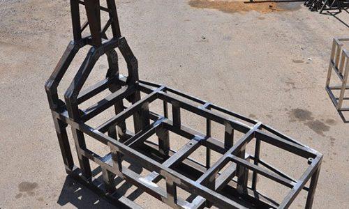 קונסטרוקציה הבנויה מחומר פלדה למכונת אוטומציה 1