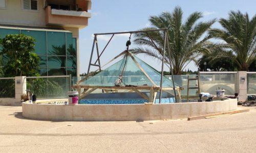 עיצוב גגות נירוסטה לבריכות ומזרקות 3
